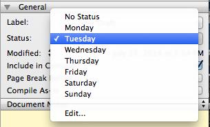 My Status menu